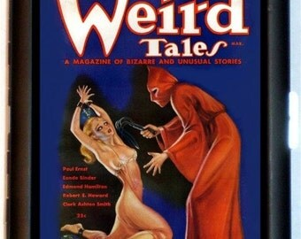Weird Tales Pulp Magazine Cigarette Case Business Card Holder Wallet Red Devil Cover Art