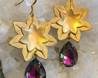AURA LOTUS Earrings dangle earrings sacred jewelry