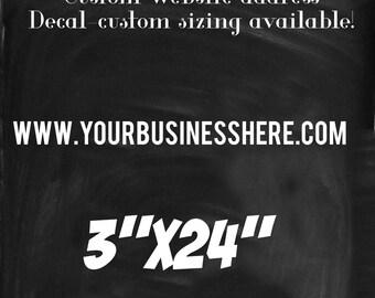Business website vinyl decal, customize, business decal, website