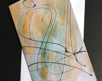 Singular Session - Blank Abstract Linear Art Card