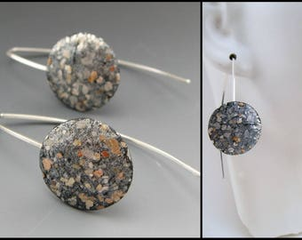 Mica earrings on sterling wires