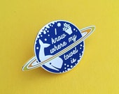 I Know Where My Towel Is Enamel Pin Badge - Hitchhikers Guide To The Galaxy Badge - Douglas Adams Pin - Dont Panic