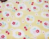 Cute Cotton Fabric - Yellow Cherry