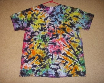 L tie dye t-shirt, stained glass, large
