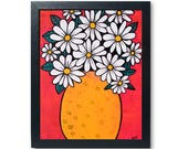 Daisy Print - Floral Stil...