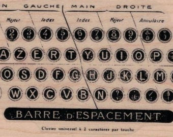 rubber stamp  typewriter keys by Cat Kerr stamps stamping no 20024 scrapbook scrapbooking supplies