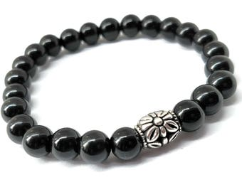 Black Onyx Stretch Gemstone Bracelet