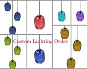 Custom Order for S. Covington- Pendants and Sconces