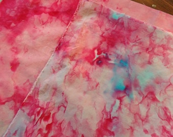 Hand dyed fabric. Fat quarter. Cotton hand dyed fabric.