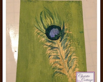 Peacock Feather ACEO, Set of 5