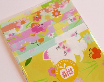 """Alice Apple Retro Kitty Kitsch and Friends Fabrics Sample Pack - 8 Pieces 7"""" x 5"""""""