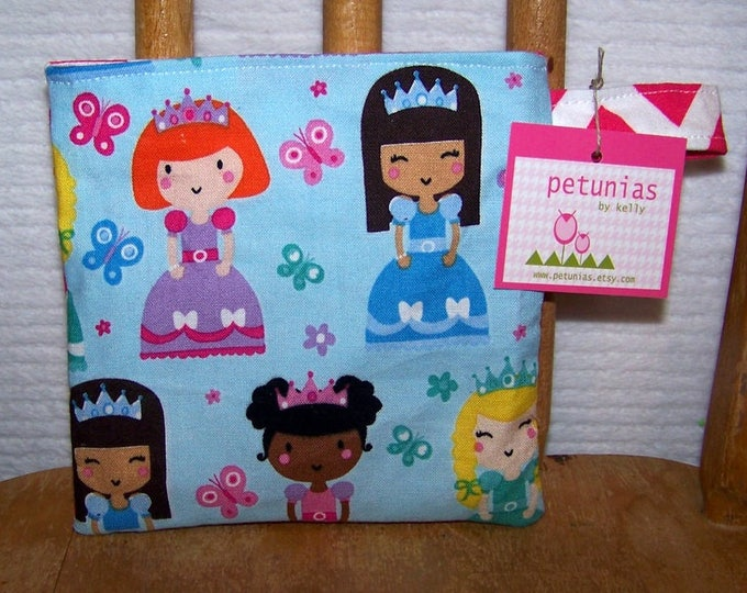 Reusable Little Snack Bag - pouch adults kids princess eco friendly by PETUNIAS