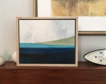 Original abstract landscape, framed art, home decor, original art, modern living, fine art,