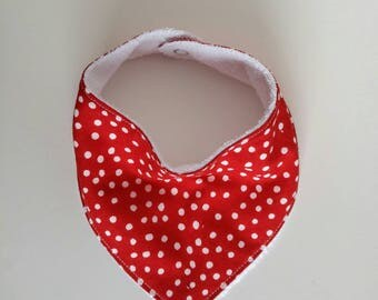 Red dot bandana bib