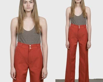70s High Waisted Wide Leg Pants