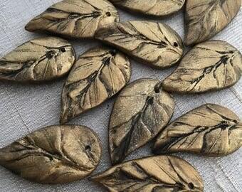 Renaissance Brass Leaf Pendant