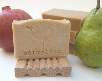 Natural Soap, Farm Market, Pomegranate Soap, Pear Soap, Handmade Soap, Bath Soap, Unscented Soap, Bar Soap, Stocking Stuffer, Gift for Women