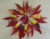 Red and Yellow Glass Shards for Mosaic Art Designing  (Plus Dalle de Verre Chunks)