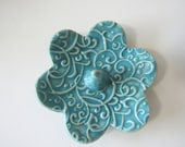 Ring Holder, Ring Dish, Turquoise Ring Bowl, Glazed in Sea Isle Blue