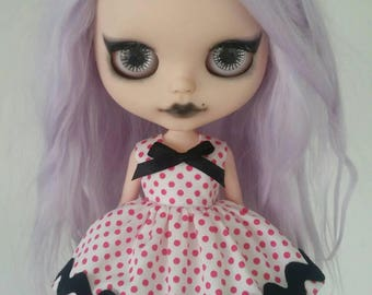 SALE Spots and Zig Zags dress for Blythe and Pullip