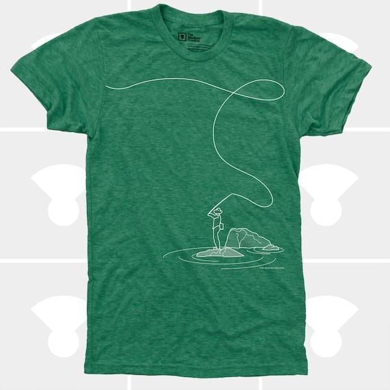 Fly Fishing Shirt, Men's Clothes, Fishing TShirt, Fishing Gift, Hipster, Utah, Idaho, Mens Graphic Tee, Fly Rod, Men's Fly Fishing TShirt