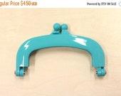 Japanese Purse Frame - gamaguchi - plastic frame - small - light blue