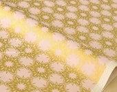 Cotton + Steel Noel - metallic gold flakes pink - fat quarter