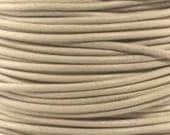 "2mm Round Petal Ivory Leather Lace Cord - 2mm 3/32"" Cream Beige Diameter Craft Jewelry Bracelet Wrap Necklace - I ship Internationally"