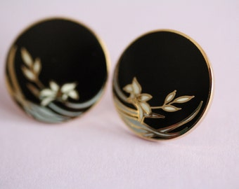 VINTAGE Laurel Burch WILD FLOWER pierced earrings