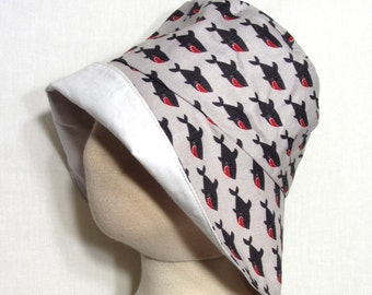 Shark Sunhat with SPF50+ Lining Fabric and Velcro Straps 7 SIZES!