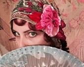 Fancy Flapper Hair Corsage Half Cloche Headband by Louise Black