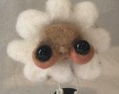 Sweet white daisy flower Ooak   art doll