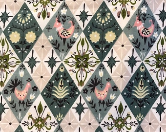 """Vintage Decorator 1950's Fabric by Waverly 36"""" wide by 6 Yards"""