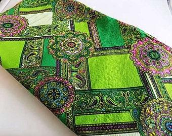 Vintage Psychadelic Print Fabric Bold Pattern Yardage - 2.55 yards