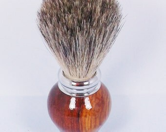 Handcrafted Shaving Brush using Cocobolo Wood