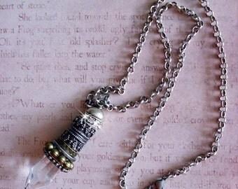 Gypsy At Heart.BOHO focal bead, pendant..gift boxed with chain...READY to SHIP, bohemian fashion, tribal jewelry, boho jewelry,  gypsy