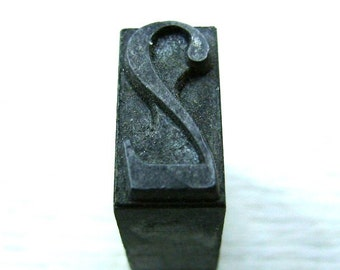 Vintage Japanese Metal Stamp - Japanese Stamp - Number - Vintage Stamp - 2 - Two L Size