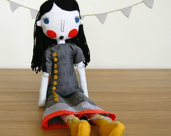 Rag Doll, Fabric Dolls, Custom Doll, Custom Portrait, Personalized Doll, Girlfriend Gift, Wedding Shower Gift, Art Doll, Anniversary Gift
