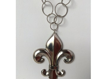 Necklace Silver Fleur de Lis