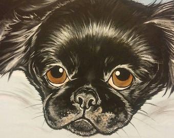 CUSTOM Pet Portrait Painting 11x14 pet loss, pet memorial, pet lover gift