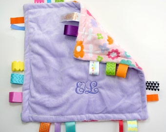 Monogrammed Embroidered Personalized Taggies Blanket