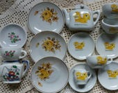 Vintage Toy China Play Dishes