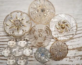 Vintage Glass Button Set
