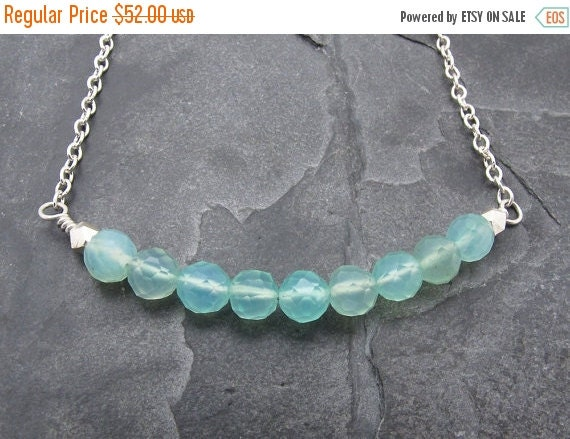 Opal gift, Peruvian opal necklace, Opal necklace, gemstone necklace, October birthstone, beach wedding necklace, aqua gemstone necklace