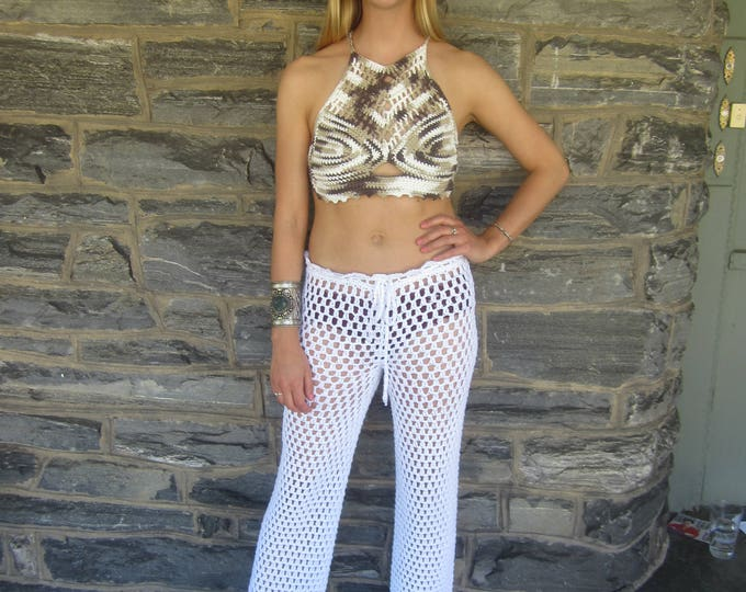 ready to ship, Crochet cropped top, sweetheart top, Boho crop top, halter top, FESTIVAL CLOTHING, Bohemian , summer top, beach wear, gypsy,