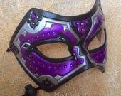 READY TO SHIP Persian Leather Mask... mask masquerade costume mardi gras halloween burning man fantasy