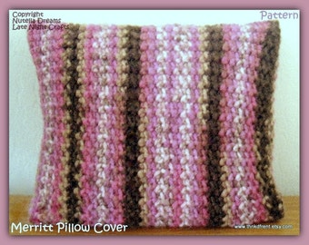 Pillow Cover Crochet Pattern.  Cozy up Dorm.  Freshen Up Any Room.  Removable. Fun and Easy