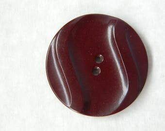 Large Vintage Art Deco Brown Plastic Button