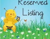 Reserved Listing for Kelli