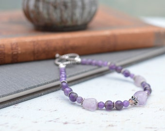 Amethyst and Sterling Silver Bracelet